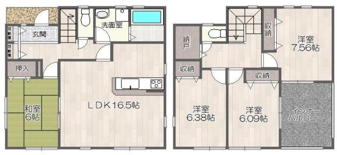 奈良市平松2丁目・新築一戸建て・リーブルガーデン
