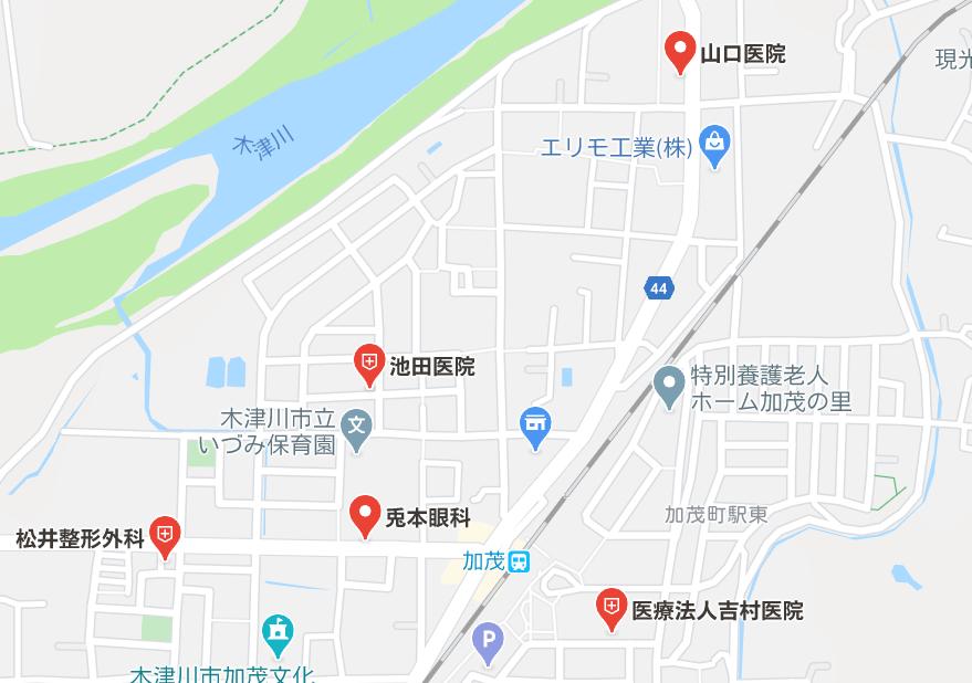 木津川市「加茂駅周辺」の医療施設・病院