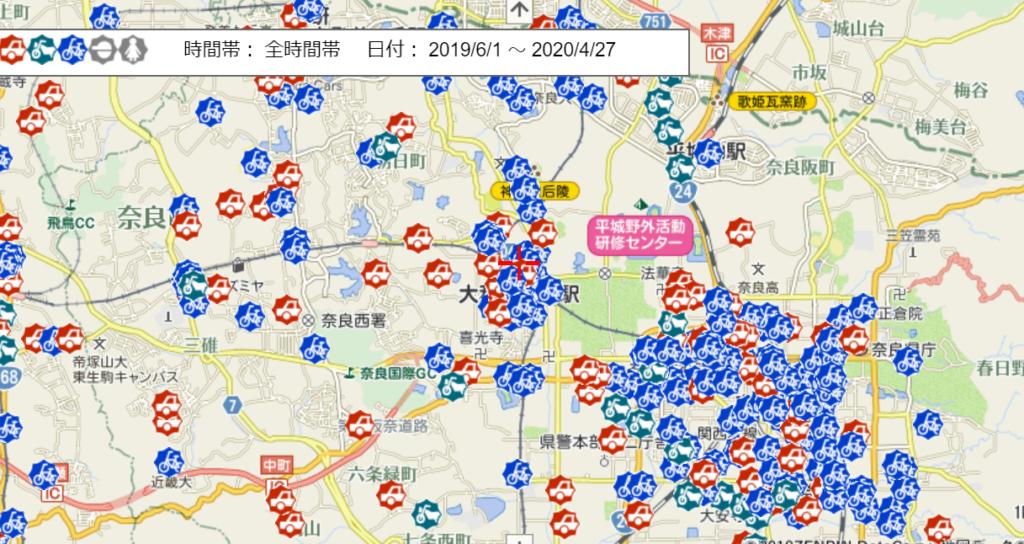 車上狙い・オートバイ盗・自転車盗(奈良市)