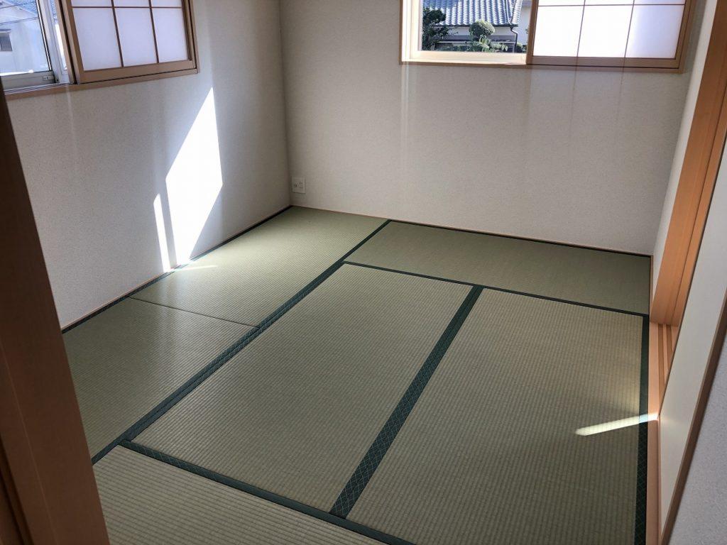 現地和室写真・斑鳩町龍田北・新築一戸建て